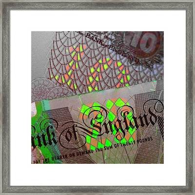 Fluorescent Banknote Printing Framed Print by Science Photo Library