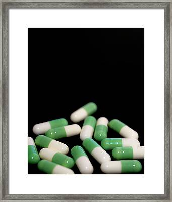 Fluoxetine Antidepressant Capsules Framed Print by Robert Brook