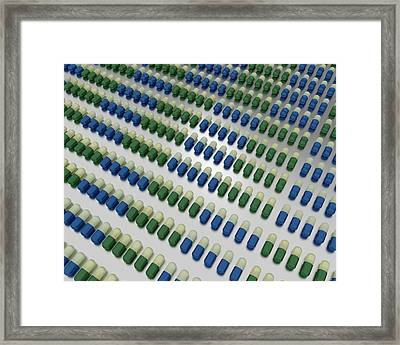 Fluoxetine Capsules Framed Print by Robert Brook