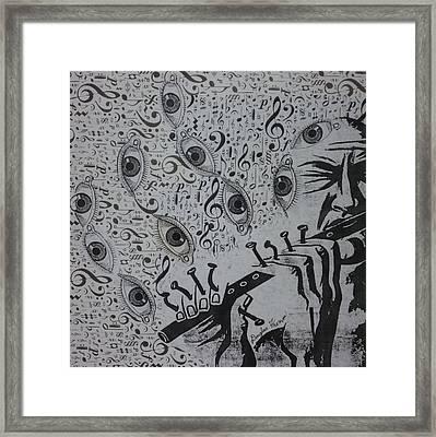 Flute Concerto In Eye Minor Framed Print by Douglas Fromm