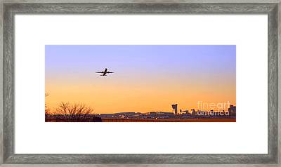 Fly Away Framed Print by Olivier Le Queinec