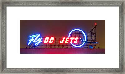 Fly Dc Jets Framed Print by Heidi Smith