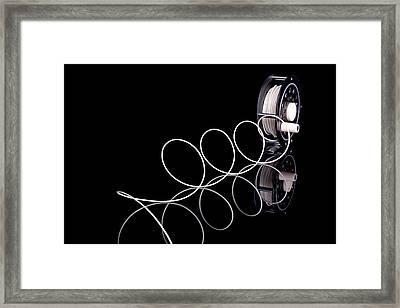 Fly Fishing Reel Framed Print by Tom Mc Nemar