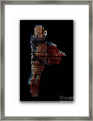Fly High Supergirl Framed Print by Marvin Blaine
