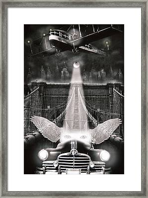 Fly Me To The Moon Framed Print by Larry Butterworth