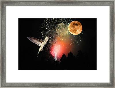 Fly Me To The Moon Framed Print by Lynn Bauer