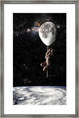 Fly Me To The Moon - Narrow Framed Print by Nikki Marie Smith