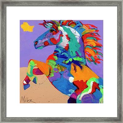 Flyin Hooves Framed Print by Tracy Miller