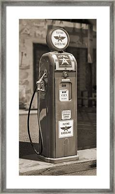 Flying A Gasoline - National Gas Pump 2 Framed Print by Mike McGlothlen