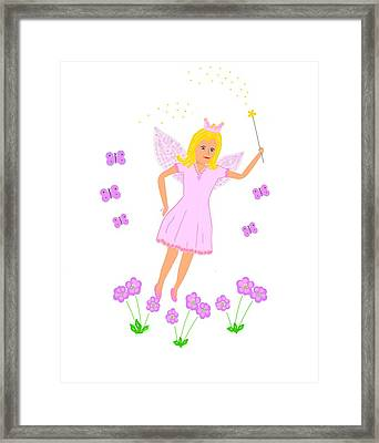 Flying Fairy Princess Framed Print by Janet Davies