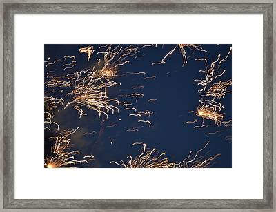 Flying Fireworks Framed Print by Kim Stafford