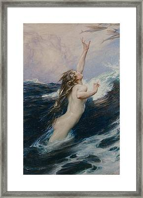 Flying Fish Framed Print by Herbert James Draper