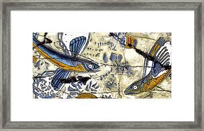 Flying Fish No. 3 - Study No. 1 Framed Print by Steve Bogdanoff