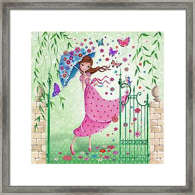 Flying Flowers Framed Print by Caroline Bonne-Muller