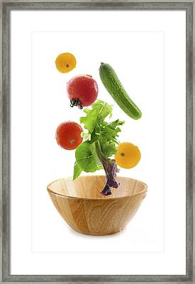 Flying Salad Framed Print by Elena Elisseeva