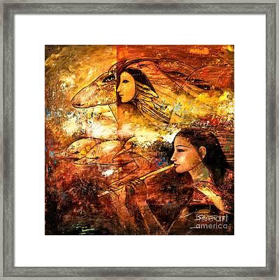 Flying Framed Print by Shijun Munns