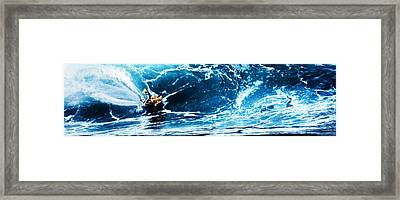 Flying Sponger At Pipeline Framed Print by Ron Regalado