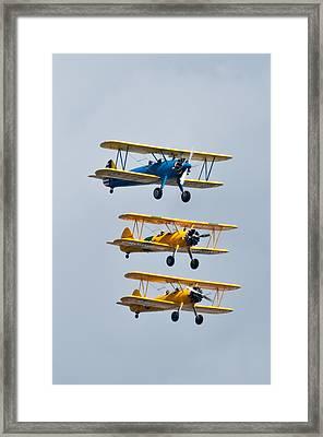 Flying Steermen  Framed Print by Puget  Exposure