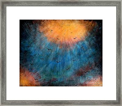 Flying To Heaven Framed Print by Mike Grubb