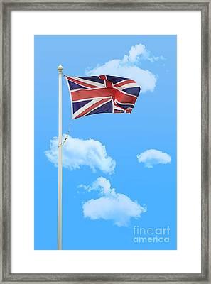 Flying Union Jack Framed Print by Amanda And Christopher Elwell