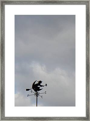Flying Witch - Piazza Palio - Khaoyai Thailand - 01131 Framed Print by DC Photographer