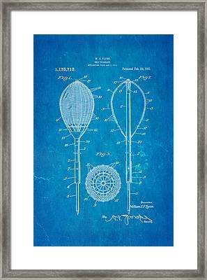 Flynn Merion Golf Club Wicker Baskets Patent Art 1916 Blueprint Framed Print by Ian Monk