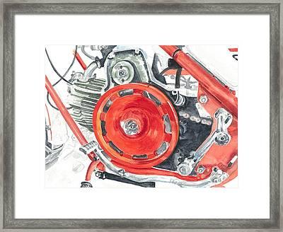 flywheel tuner Nuovo Falcone CV Falcone 1971 Framed Print by Ingrid Wijnant