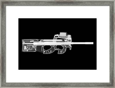 Fn Ps90 Reverse Framed Print by Ray Gunz