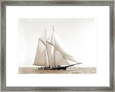 Foam, Foam Schooner, Yachts Framed Print by Litz Collection
