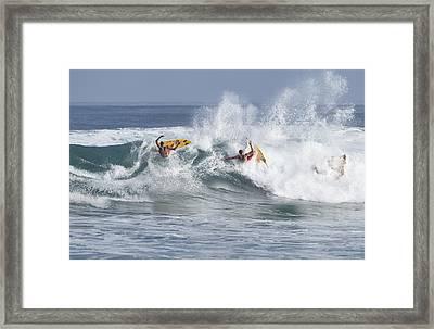 Foam Slide Framed Print by Sean Davey