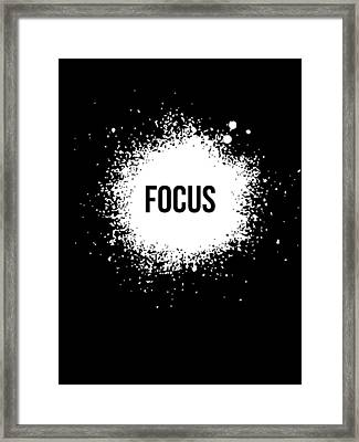 Focus Poster Black Framed Print by Naxart Studio