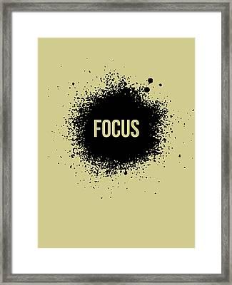 Focus Poster Grey Framed Print by Naxart Studio