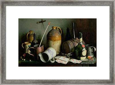 Foes In The Guise Of Friends Framed Print by Edward George Handel Lucas