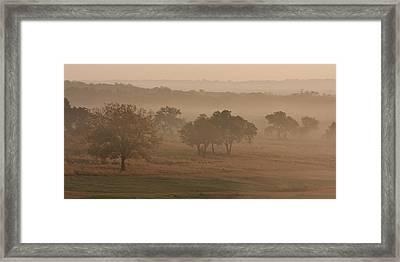 Fog In The Hills 2 Framed Print by Paul Huchton