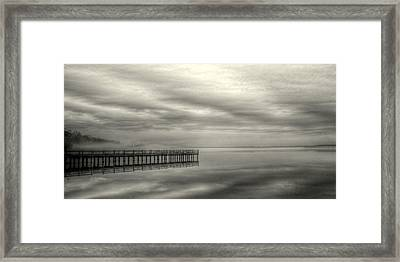 Fog On The Chesapeake  Framed Print by JC Findley