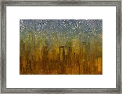 Fog Over Midtown Framed Print by Jack Zulli