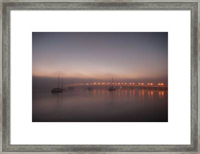 Foggy Bayfront Morning Framed Print by Stacey Sather