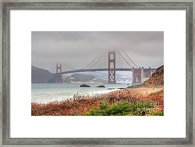 Foggy Bridge Framed Print by Kate Brown