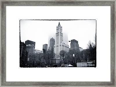 Foggy Day 1990s Framed Print by John Rizzuto