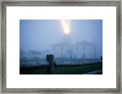 Foggy Day At The Lighthouse Framed Print by Allan Millora Photography