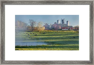 Foggy Farm Morning Framed Print by Bill Wakeley