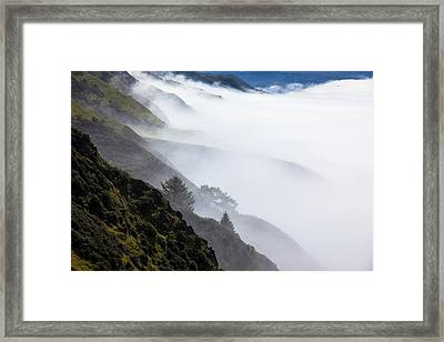 Foggy Hillside Framed Print by Garry Gay