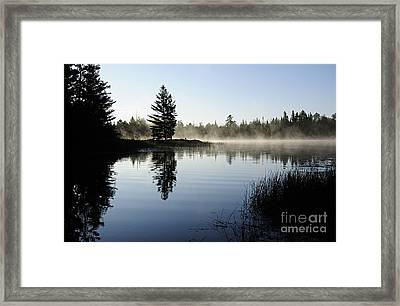 Foggy Morning Framed Print by Larry Ricker