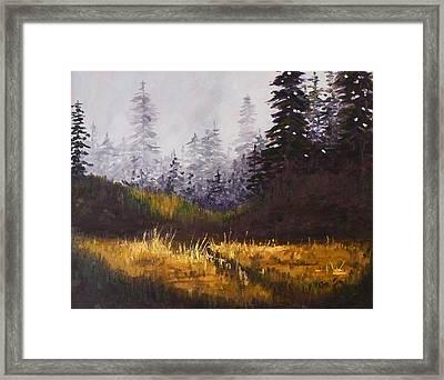 Foggy Morning Framed Print by Nancy Merkle