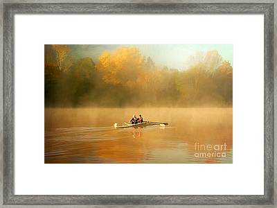 Foggy Morning On The Chattahoochee Framed Print by Darren Fisher