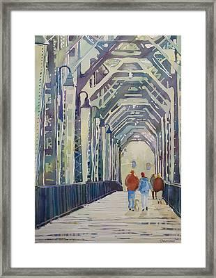 Foggy Morning On The Railway Bridge Two Framed Print by Jenny Armitage