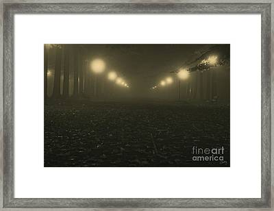 Foggy Night In A Park Framed Print by Prints of Italy