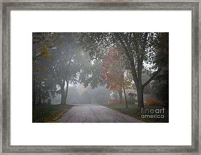 Foggy Street Framed Print by Elena Elisseeva