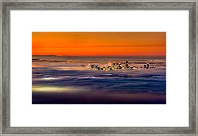 Foggy Sunrise Framed Print by Alexis Birkill