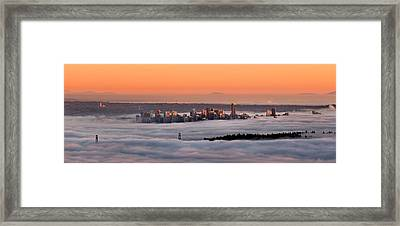 Foggy Sunset Framed Print by Alexis Birkill